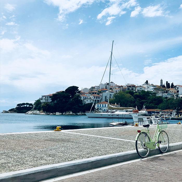 One fine day in Skiathos Island's Old Port