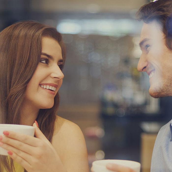IRIS skiathos - Decorative Photo of People drinking Coffee